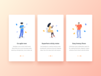 NoteApp Onboarding Cards for iOS App