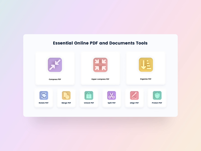 PDF Compressor 3D Icons cinema4d documents compressor animated 3d design animated clean home page sketch uxui web ux user interface ui saas pdf icon set fresh icon 3d