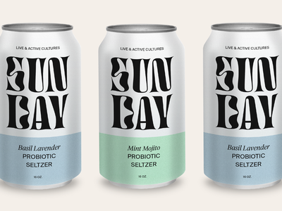 SUNDAY sunday water can design concept packaging seltzer