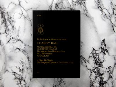 CB III Save the Date typography type illustration invite invitation gala ball charity