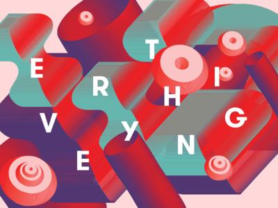 EVERYTHING dimension digital vector 3d shapes type illustration design