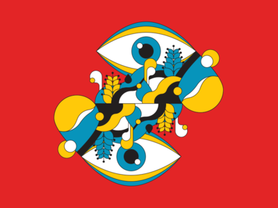 What We See see eye water psychedelic illustration