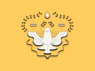 Hope olive branch infinity illustration bird infinite peace dove hope