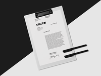Space letterhead design