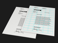 Space letterhead design(+grid)