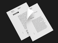 Multi page letterhead design for Space