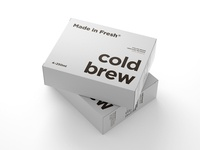 Cold brewed coffee boxes