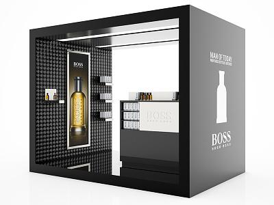 Hugo Boss :: Booth hugo boss tradeshow stand vray perfume booth