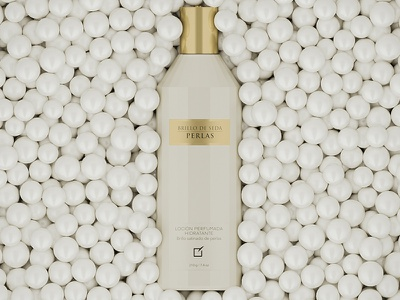 Brillo de Seda Yanbal :: 3D Packshot cosmetics corona render pearls 3d visualization advertising 3d bottle 3d product yanbal