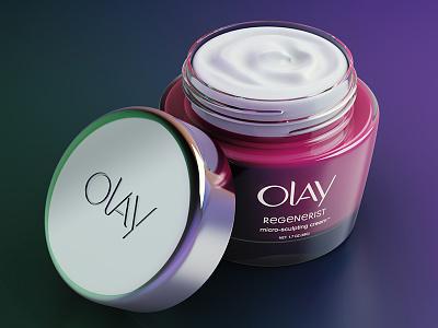 Olay :: 3D Packshot arnold render digital art cosmetics cream 3d product olay