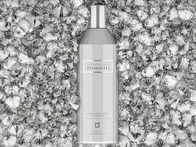 Brillo De Seda Diamantes Dribbble diamonds corona render pearls 3d visualization advertising 3d bottle 3d product yanbal