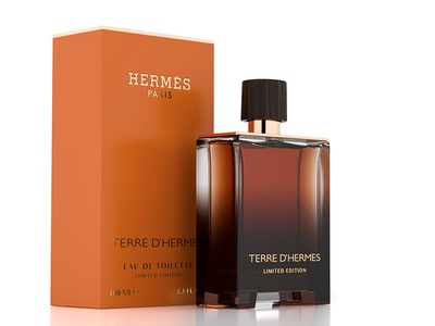 Terre De Hermes :: 3D Packshot arnold render luxury 3d product 3d bottle perfume