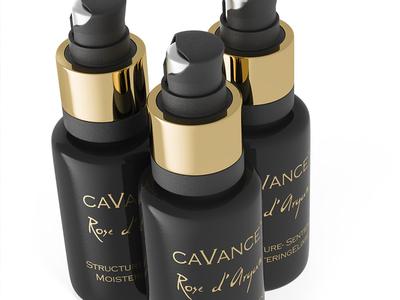 Cavance :: 3D packshot corona render luxury 3d product 3d bottle perfume