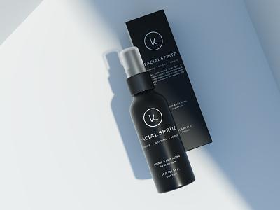 Facial Spritz :: Karima Sweden 3d visualization corona render cosmetics 3d bottle 3d product