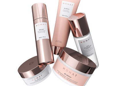 MONAT COSMETICS packaging 3d product beauty skincare vray 3d visualization cosmetics