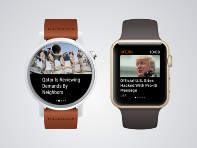 Apple Watch and Android Wear app for RFE
