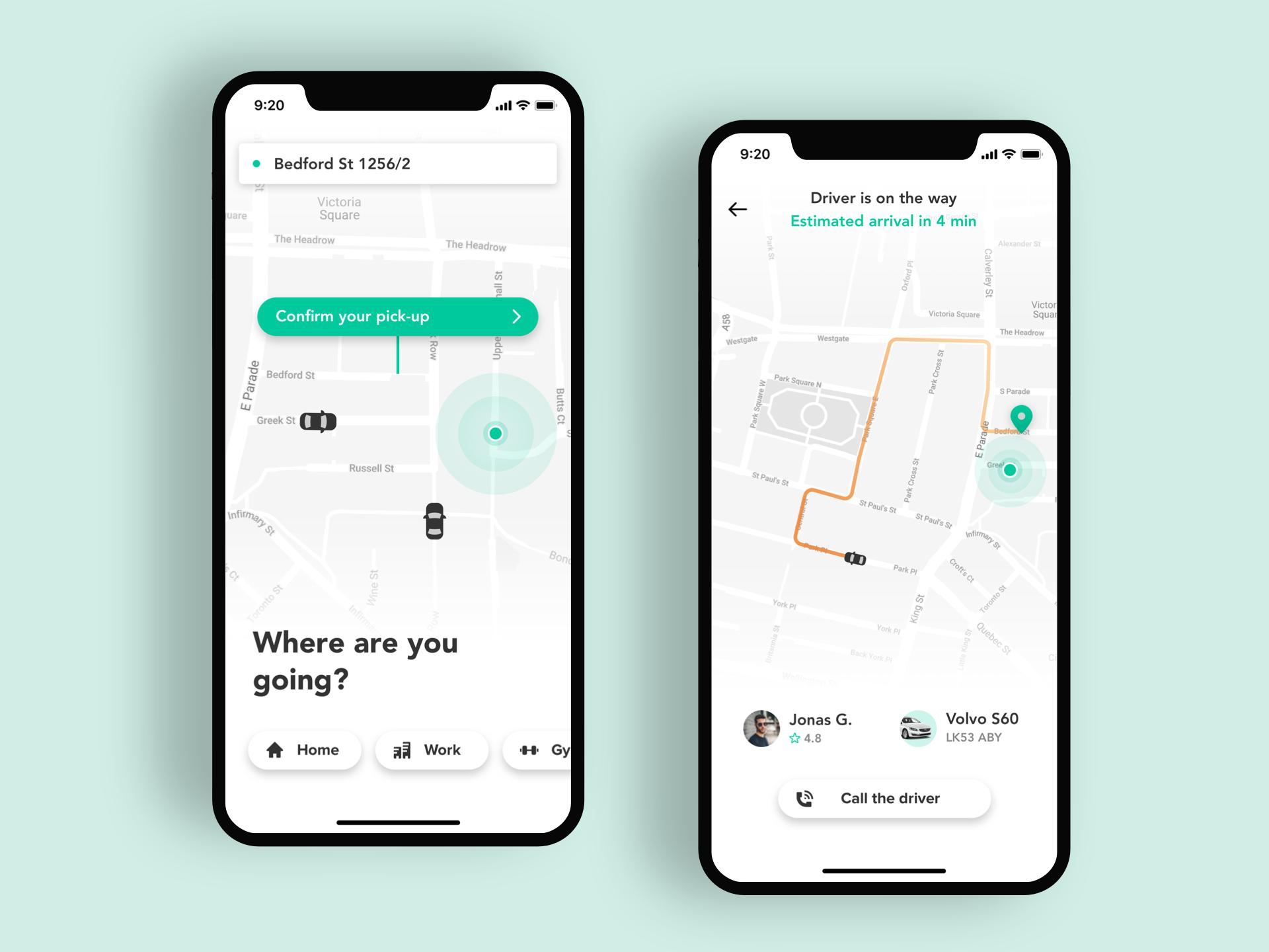 Taxi ios app