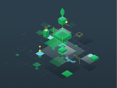 MongoDB World 2020 Abstract Illustration illustration branding design web illustration illustrator event design build vector mongodb