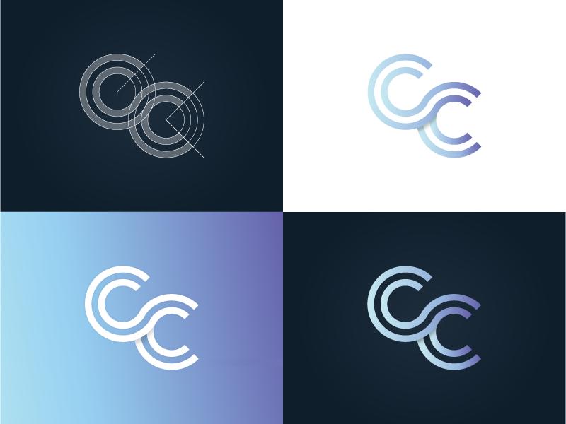 CC Marque graphic design branding debut freelancer brand gradient logo process process logo marque