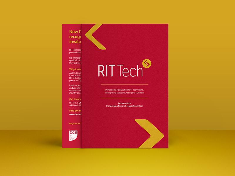 RITTech Flyer branding editorial print design flyer