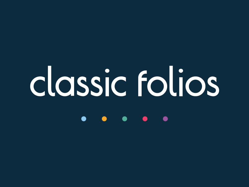 Classic Folios Logo experience design customer journey dots graphic design design brand homebuyer branding