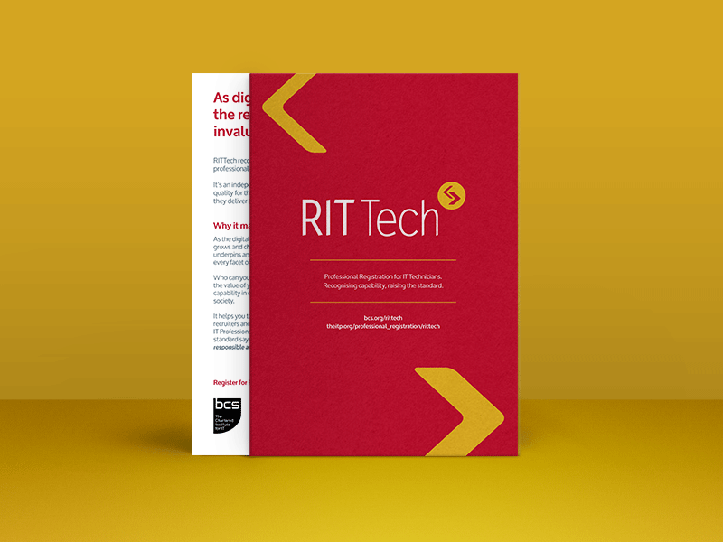 RITTech Flyer bright colours stock brand mockup branding editorial print design flyer
