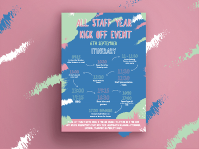 Staff event poster