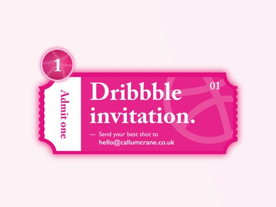 Dribble Invite giveaway!