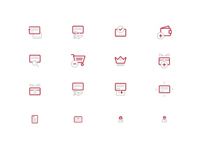 One line icons 4 mobile lineicons icon design icon set icon vector