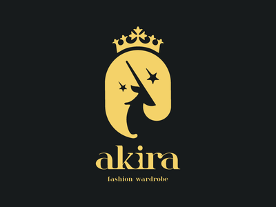 Akira star simple clean minimal royal elephant deer animal negative space logo branding logodesign logo