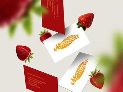 Manara indian jam strawberry freelancer branding logodesign logo fruit manara