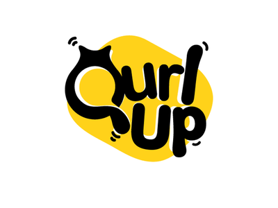 Qurlup q yellow amazing freelancer simple minimal clean bed cat logo pet
