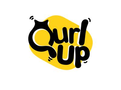 Qurlup q yellow amazing freelancer simple minimal clean bed cat logo pet