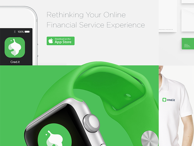 Cred.it apple watch simple clean minimal mobileui uiux application app logo financial