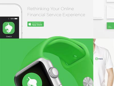 Cred.it apple watch simple clean minimal mobileui uiux application app logo financial