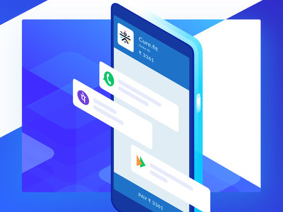 UPI Ready Payment Form blue clean design website ui checkout minimal mobile isometric illustration upi