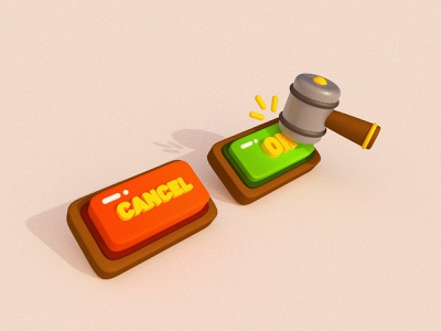 little button game ui design game ui app ui design 3d c4d button illustration cartoon