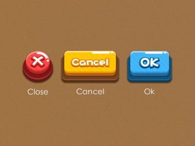 game button ui game ui cancel ok close button