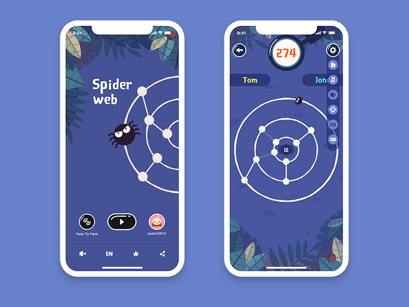 Spide Web game ui spide web illustration game ui game cartoon spide