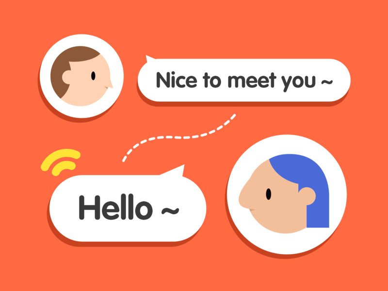 connect ui chat illustratio