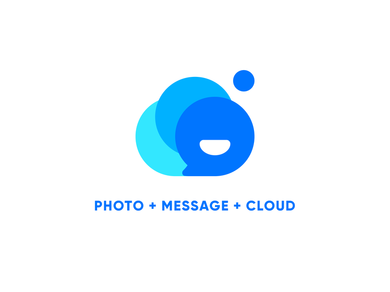 ICON photo message cloud chat logo icon