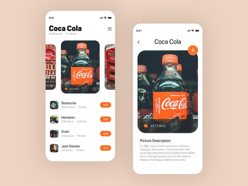 Brand Wallpaper UI drink starbucks cola interface ue ui design button branding logo ui