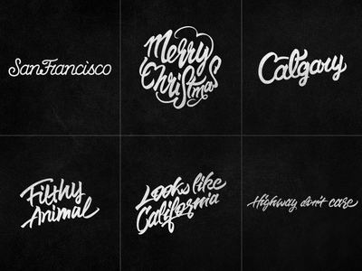 Lettering Explorations from December