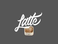 Latte Icon Lettering