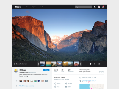 Flickr 4.0 Photo Page