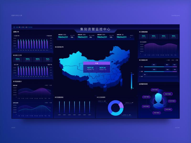 dashboard web illustrations blue
