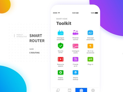 Router toolkit smart sketch router interface intelligent icon home design controller color app