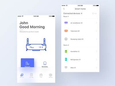 Smart router icon app color controller design router home intelligent interface sketch smart