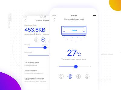 Smart home management router smart sketch interface intelligent home design controller color app