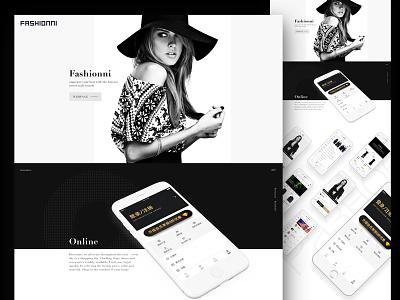 Web app clean color dark design e-commerce interface ios mobile ui